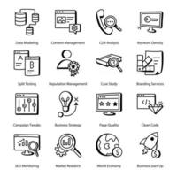 Pack of Website Services vector