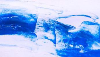 Fondo de textura de trazo de pincel de pintura de acuarela azul foto