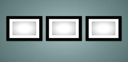 Photo and Art Frame in Vector Design Mockup