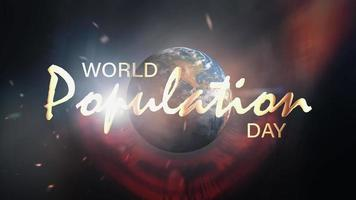 World Population Day Loop Cinematic Campaign Banner Title video