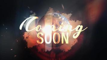 Golden Coming Soon with World Globe rotating loop video