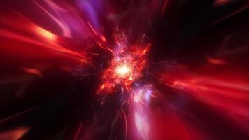 Flying in Plasma energy waves hyperspace tunnel loop video