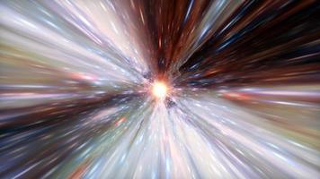 volo nel tunnel iperspaziale attraverso il tempo e lo spazio video