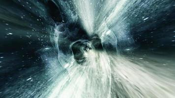 spring in ruimte wormgat door tijd ruimte tunnel video