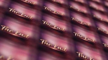 le mur de modèle de matrice de crédit final final video
