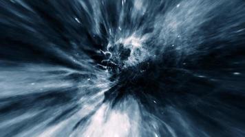 vlucht naar donkerblauwe hyperspace tunnel loop animatie video