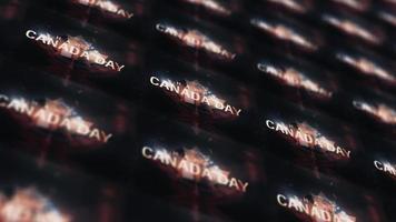bonne fête du canada motif de boucle de bannière murale led video