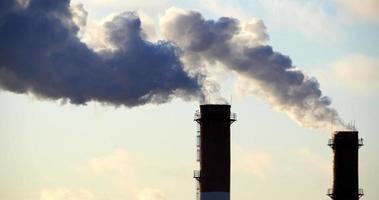 smoke pollutes the atmosphere smoke stack time lapse video