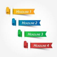 multicolor ribbons  Use for fill your headline vector