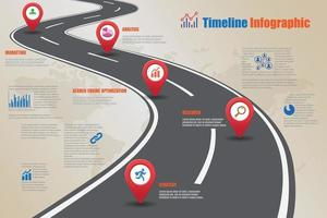 Business roadmap timeline infographic vector