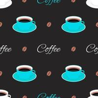 Seamless Pattern Background with Cup of Coffee vector