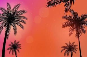 Palm Trees background vector