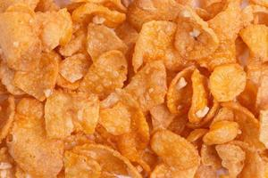 Corn flakes background and texture photo