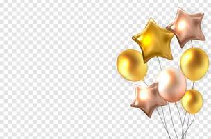 globos de colores brillantes vector
