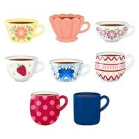 Collection of Teacups vector