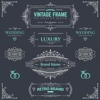 Design collection of vintage patterns vector