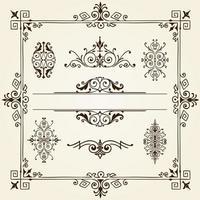 Ornament design elements frame vorder vector
