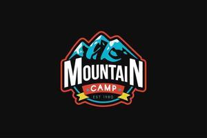 Mountain camp vector logo template