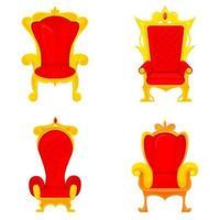 Set of royal thrones in cartoon style vector