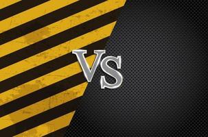 Versus letters figh background vector
