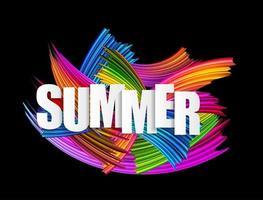 Abstract spectrum brush strokes. Textured Art Summer Background vector