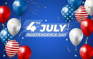 July 4, Independence Day in USA Background. Can Be Used as Banner or Poster. vector