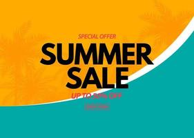 Summer sale poster. Natural Background with Tropical Palms vector