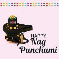 Vector illustration of a Background for Nag Panchami