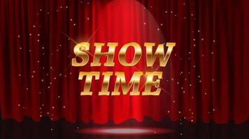 Show Time background with red curtains vector