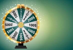 Wheel of Fortune Lucky Icon with Place for Text vector