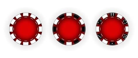 Set of Chips for the casino Gambling vector