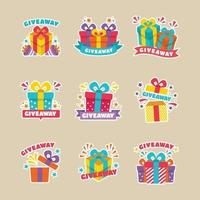 Set of Give Away Stickers vector