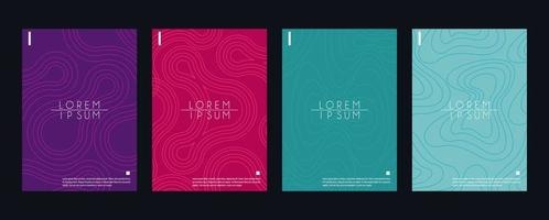 set colors digital covers abstract backgrounds vector