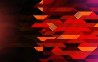 Red Geometric Dynamic Composition Background vector
