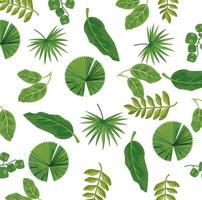 leaves plants nature pattern background vector