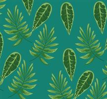 leaves plants green nature pattern background vector