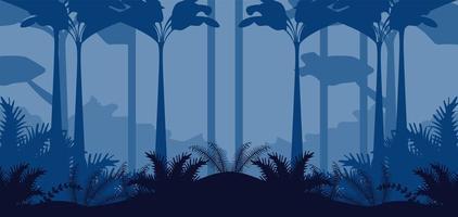 jungle wild nature blue landscape scene vector