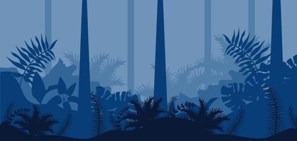jungle nature blue landscape scene vector