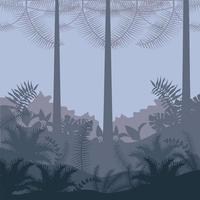 jungle wild nature gray landscape vector