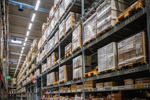 Warehouse aisle in an IKEA store photo