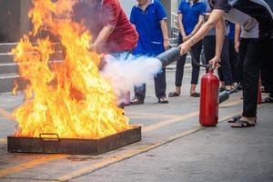 Employees firefighting training photo