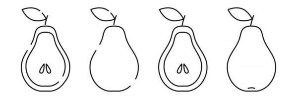Pear Minimalistic simple fruit element vector