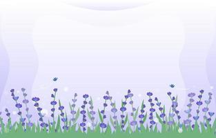 Lavender and Grass Background vector