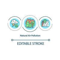 Natural air pollution concept icon vector