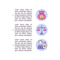 Civil remedies for infringement concept line icons with text vector