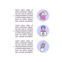 Innocent vs wilful infringement concept line icons with text vector