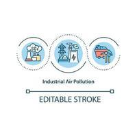 Industrial air pollution concept icon vector