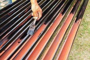 pintura de pintor de acero para evitar la oxidación foto