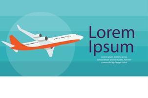 Flying airplane express delivery shipping concept vector