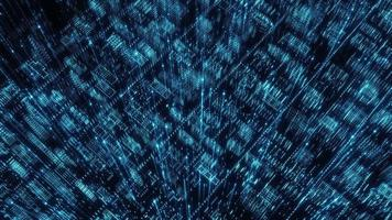Concept informatique numérique de technologie quantique gagnée numérique video